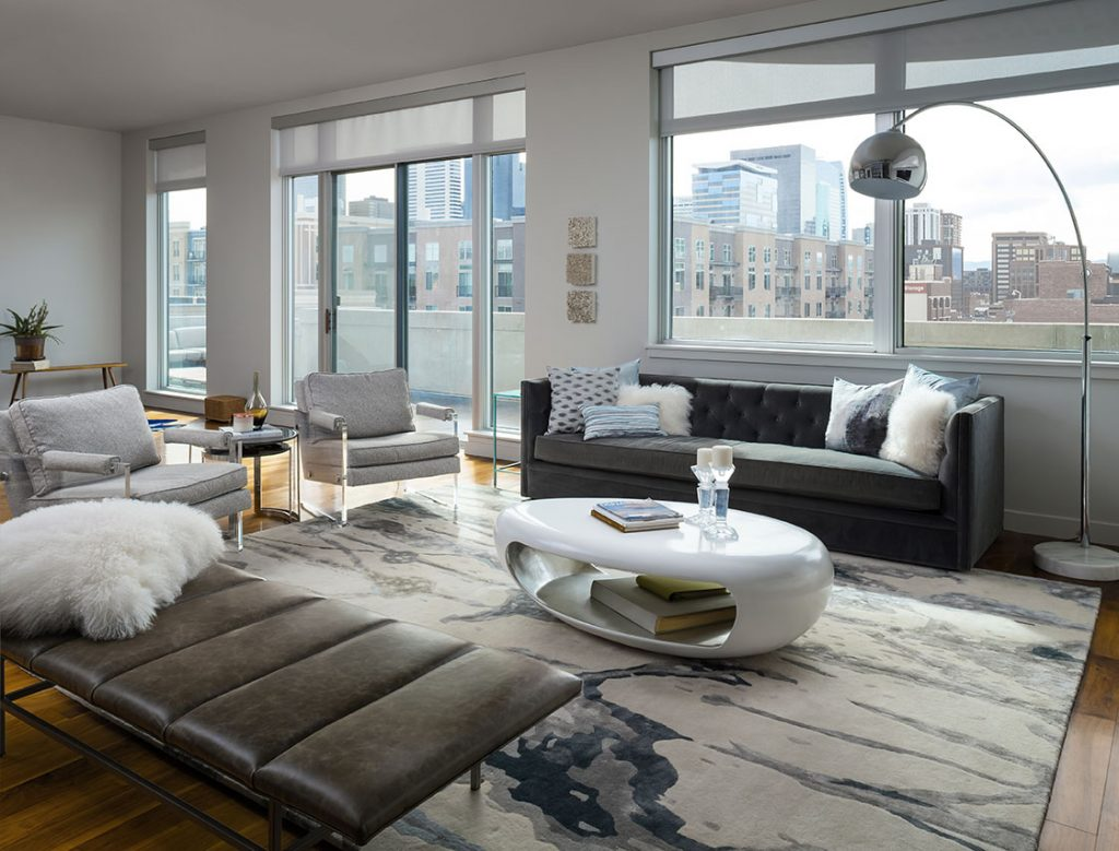 Living area remodel by Coors Field in Denver Colorado