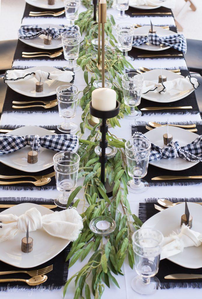 Clean thanksgiving table design ideas
