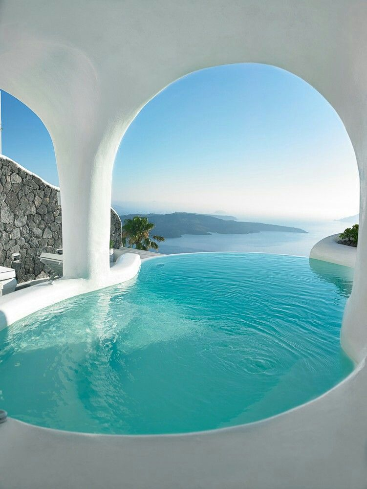 Infinity Pool in Santorini Greece
