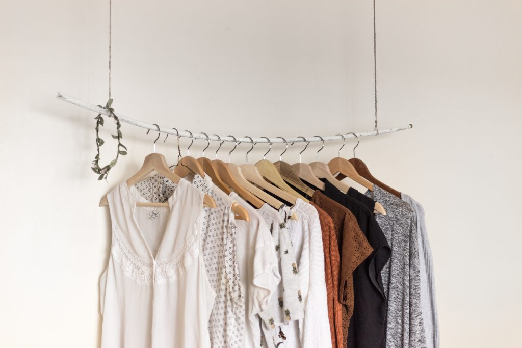 Minimal clothes hanging